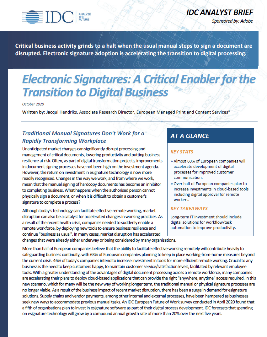 IDC- Electronic Signatures Accelerate Business white paper_UK